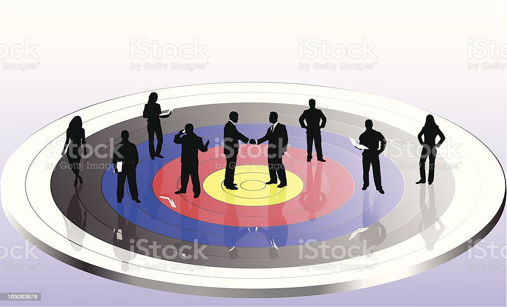 Close the deal and hit your target royalty-free stock vector art