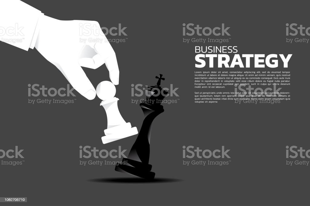 close up businessman hand take a checkmate on chess board game. - Royalty-free Acima arte vetorial