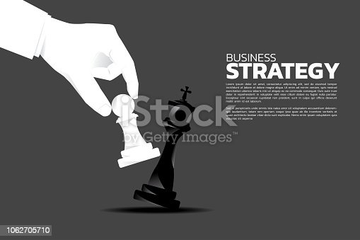 concept of business strategy and win competition.