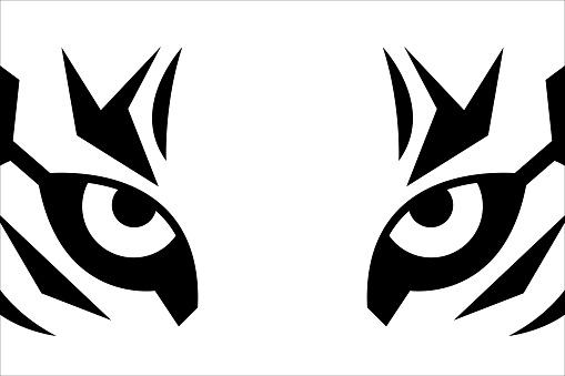 Close up eyes of tiger