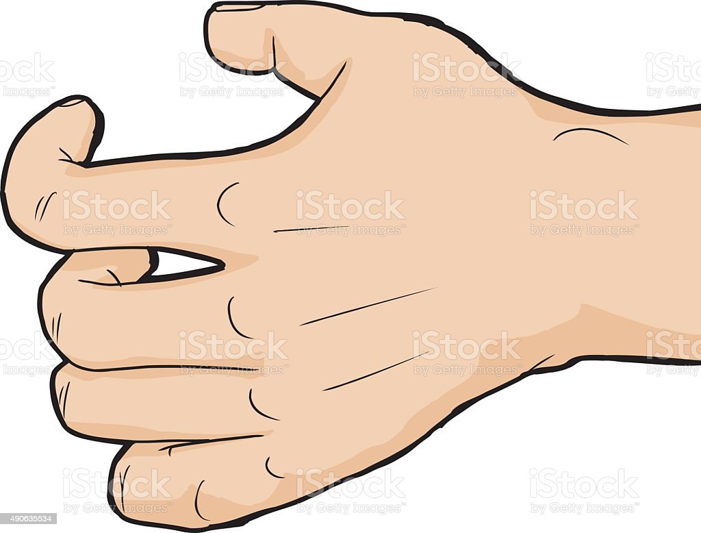 close up grabbing hand stock vector art more images of 2015