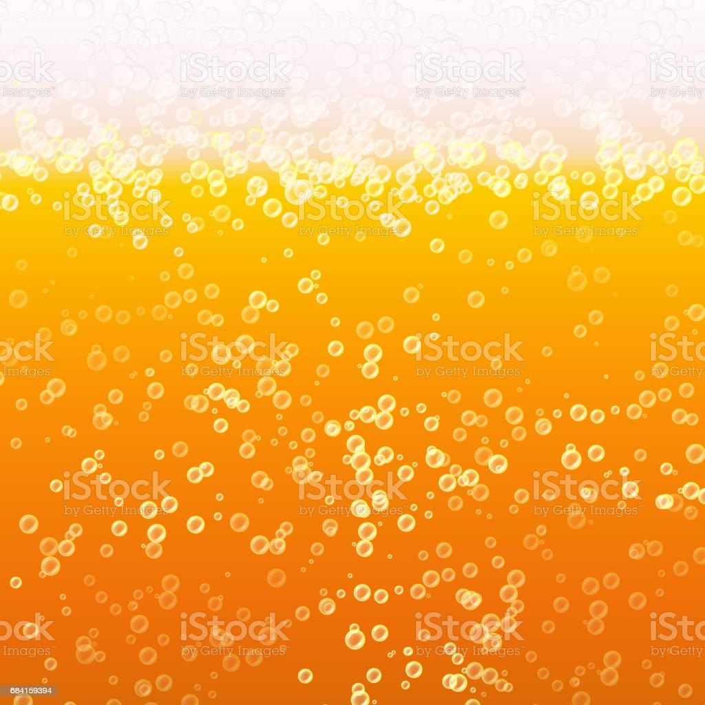 Helles Bier Mit Schaum Und Bubbles Hautnah Vector Background Frische ...