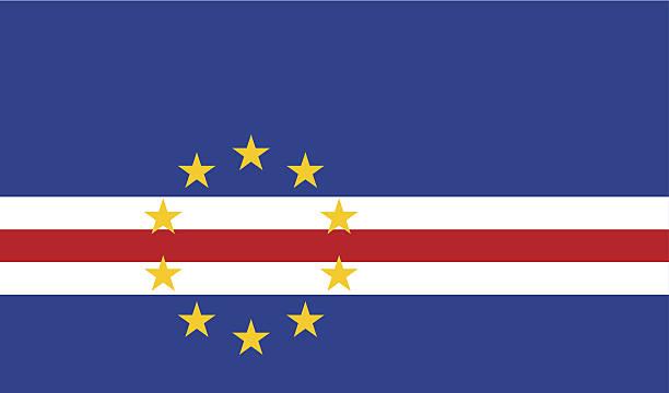 A close up of a Cape Verde flag vector art illustration