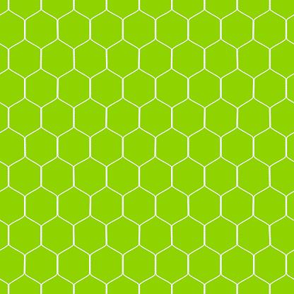 A close up of a soccer goal net