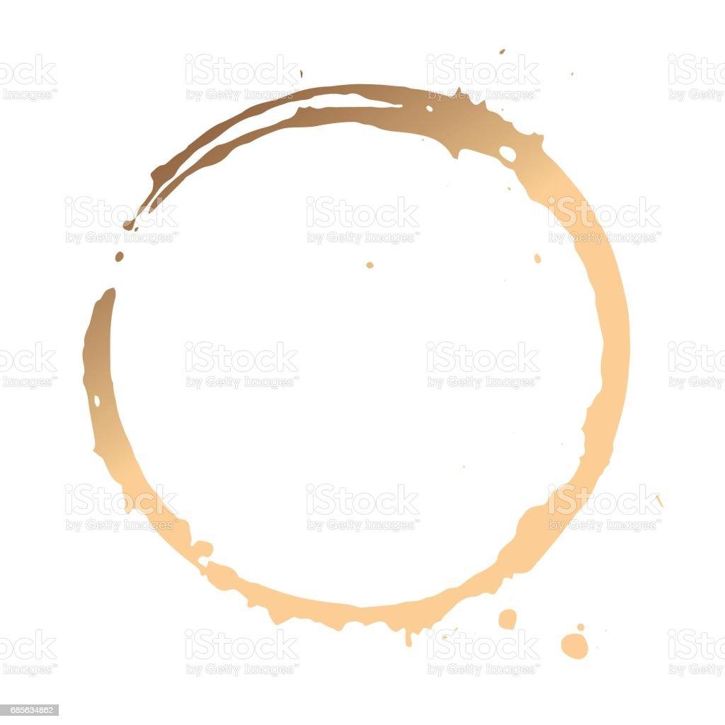 咖啡污漬的特寫 免版稅 咖啡污漬的特寫 向量插圖及更多 丙稀畫 圖片