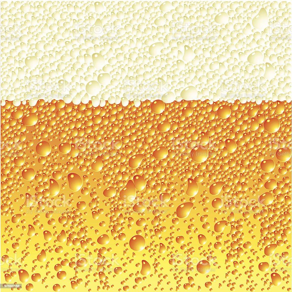 Close up of digital beer bubble illustration  vector art illustration
