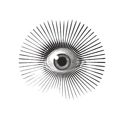 Close Up Of Eye With Frightened Expression — стоковая векторная графика и другие изображения на тему Без людей