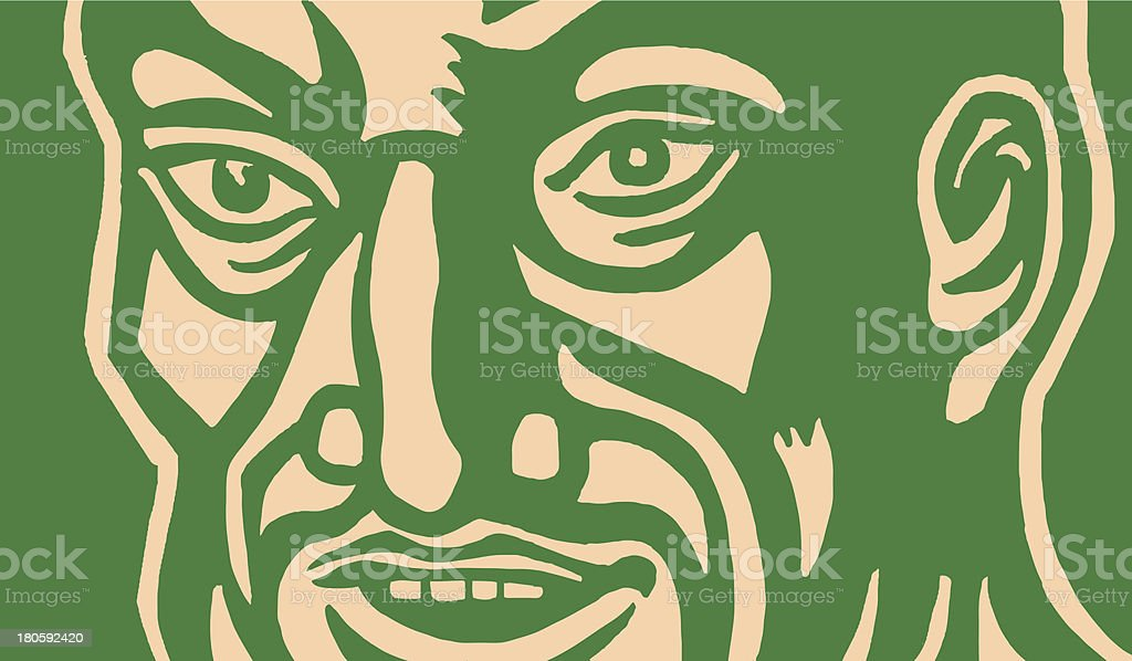 Close up of Man royalty-free close up of man stock vector art & more images of adult
