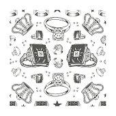 Close up Ring, Crown Pattern