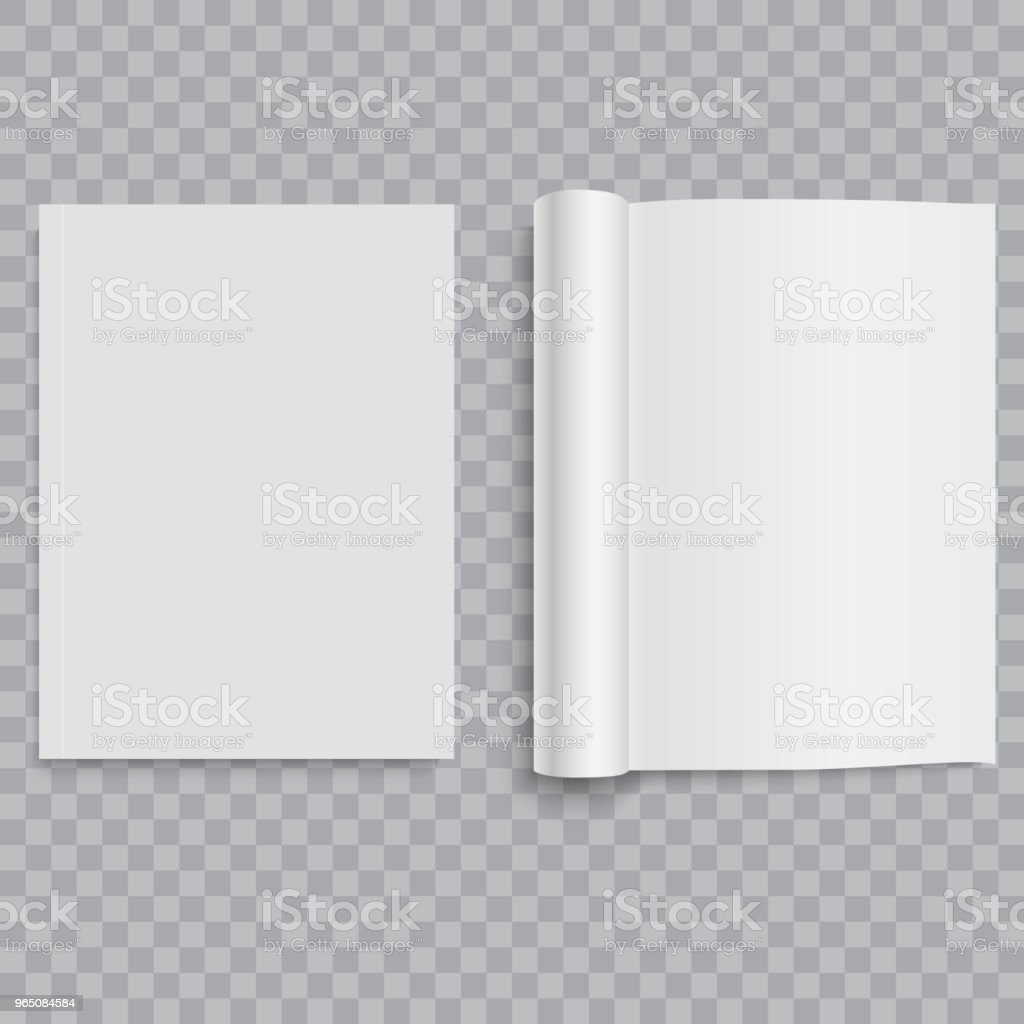 Closed and opened magazine, brochure or notebook. Vector.. royalty-free closed and opened magazine brochure or notebook vector stock vector art & more images of artificial