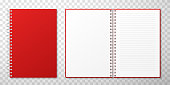 istock Closed and opened notebooks vector realistic illustration 1206280514