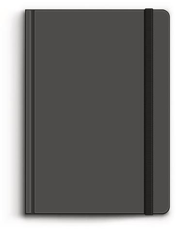 Closed Black Notebook