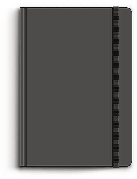closed black notebook - composition notebook cover stock illustrations, clip art, cartoons, & icons