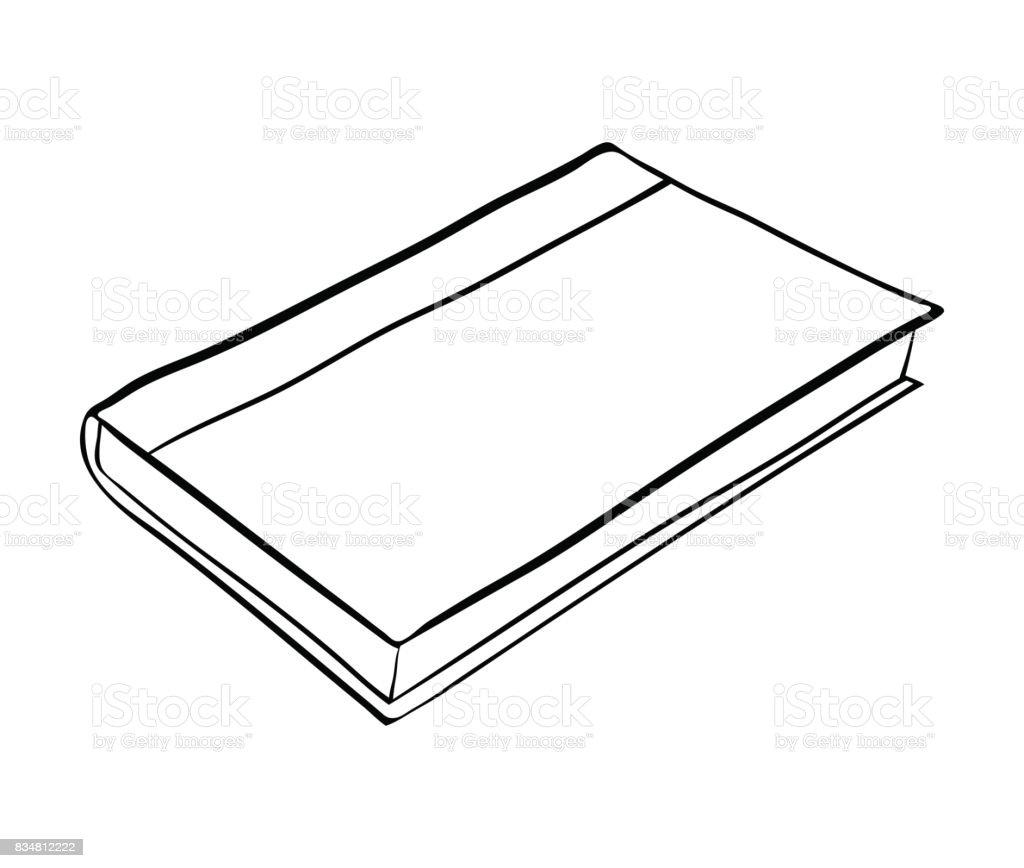 closed book cartoon vector symbol icon design. Beautiful illustration isolated on white background vector art illustration