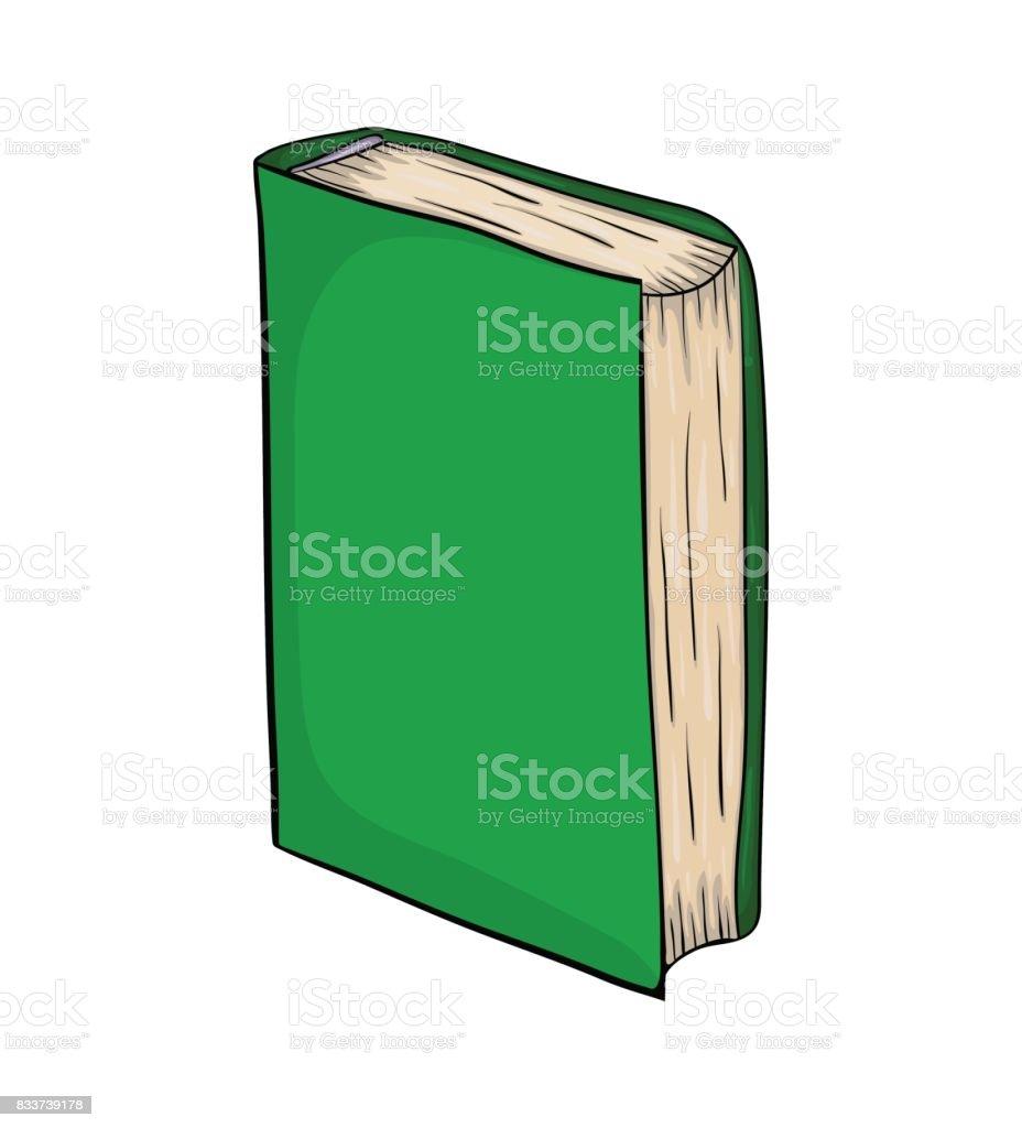 Livre Ferme Permanent Dessin Anime Vecteur Symbole Icone La
