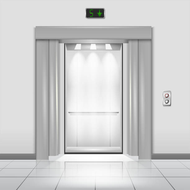 Royalty Free Glass Door Office Clip Art Vector Images