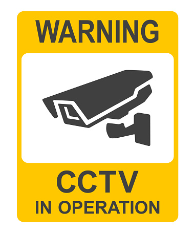 Closed Circuit Television Signs or CCTV vector illustration.