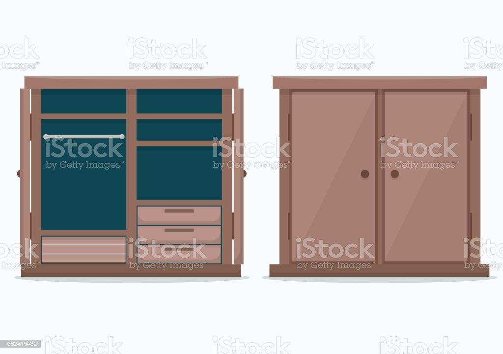 Closed cloths wardrobe. royalty-free closed cloths wardrobe stock vector art & more images of arts culture and entertainment