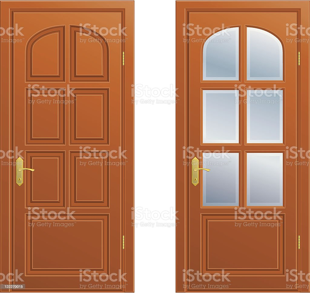 Closed door royalty-free closed door stock vector art & more images of blue glass