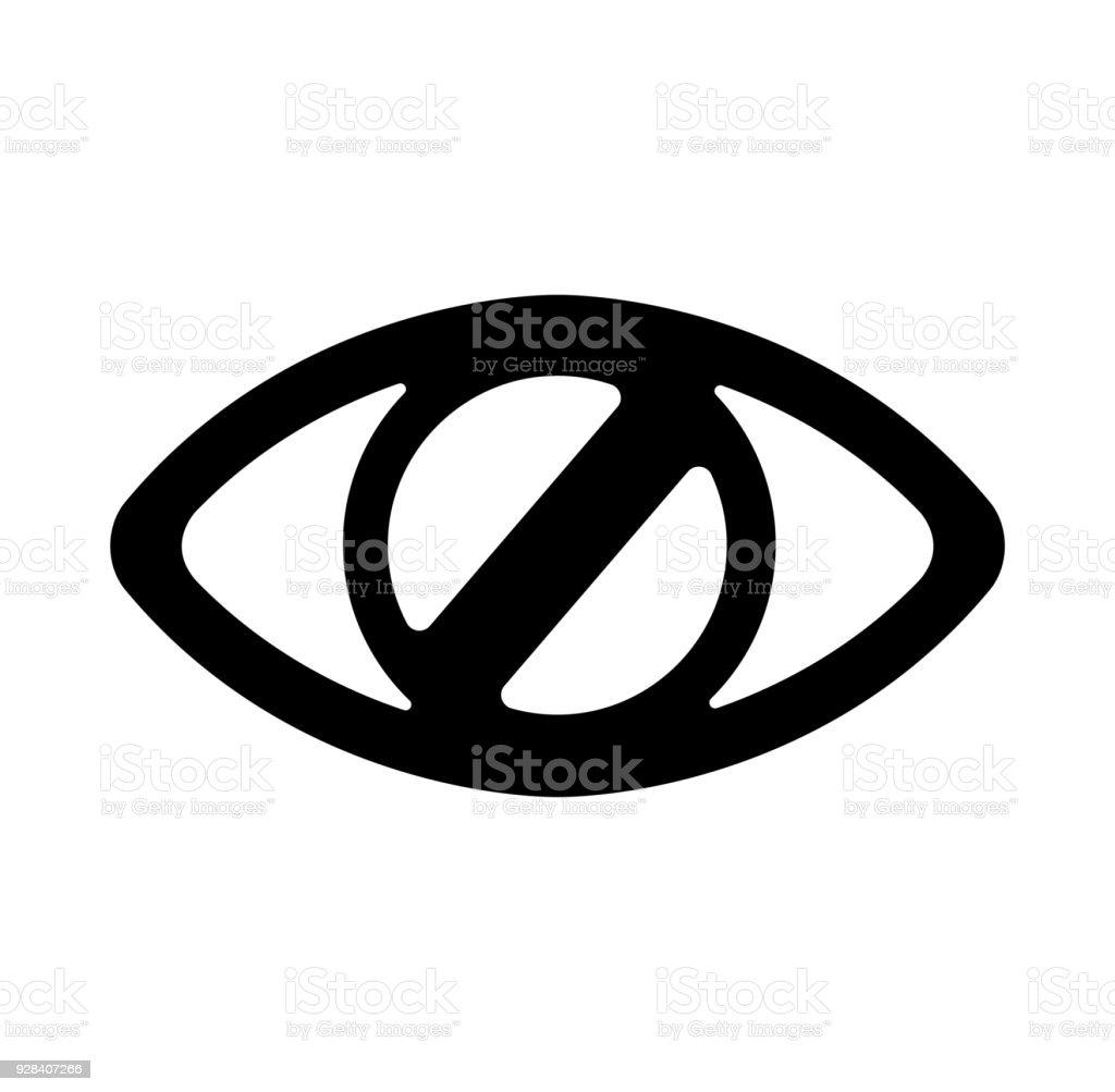Closed Eye Hidden No Display Invisible Icon Stock Vector Art More