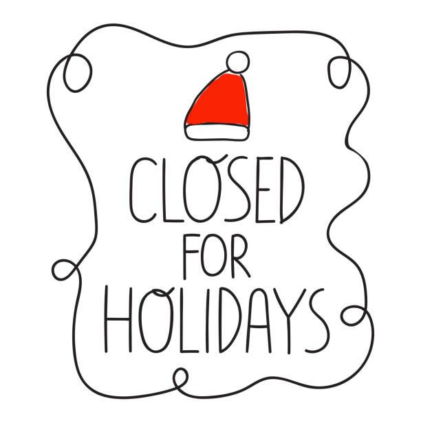 ilustraciones, imágenes clip art, dibujos animados e iconos de stock de cerrado para la bandera de vacaciones. - festividades y de temporada