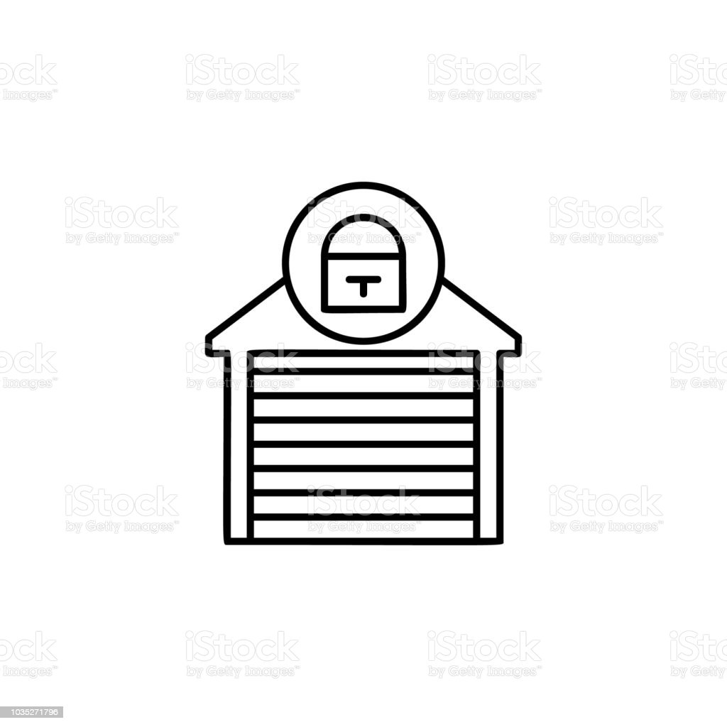 Closed Garage Sign Icon Element Of Automation Icon For