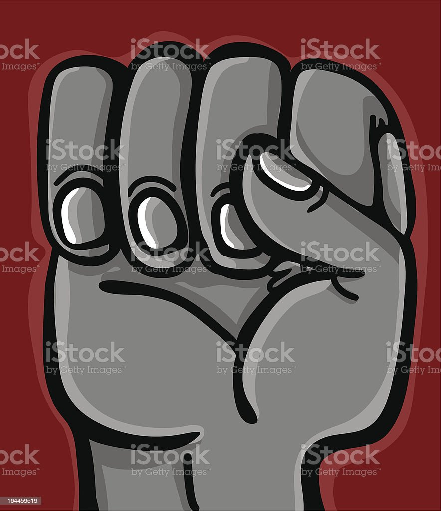 closed hand in fist closeup royalty-free stock vector art