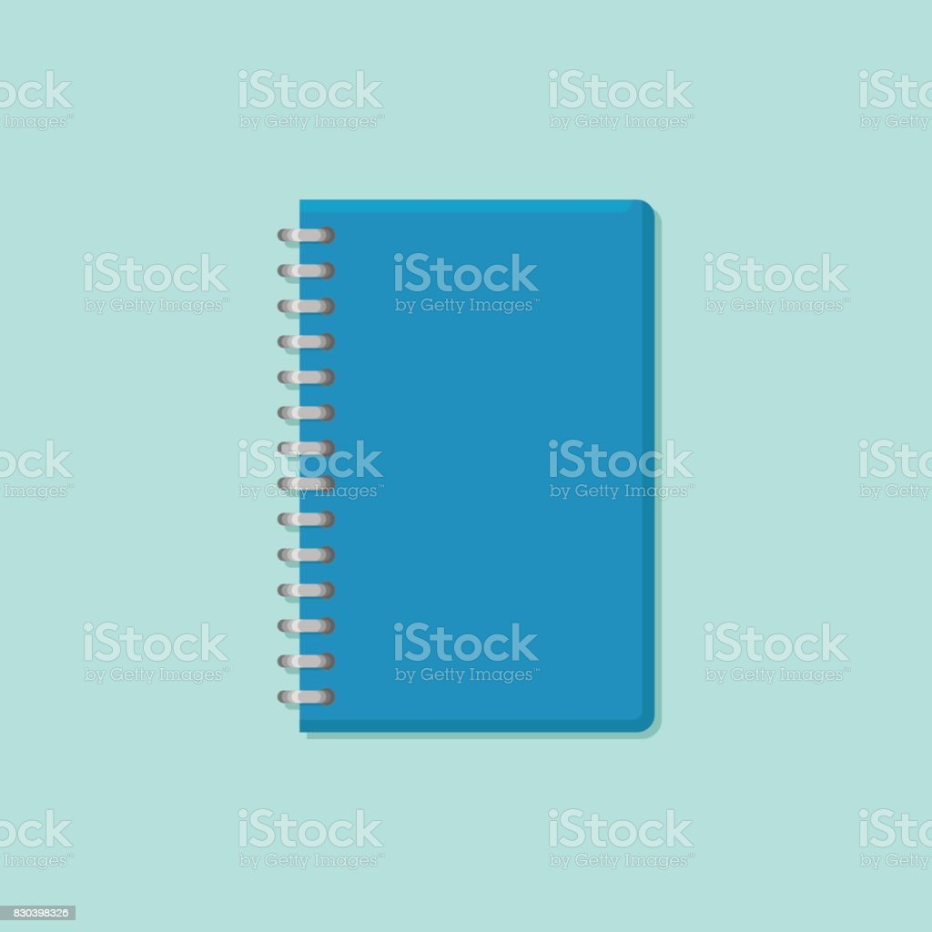 Closed notebook flat style icon. Vector illustration. vector art illustration