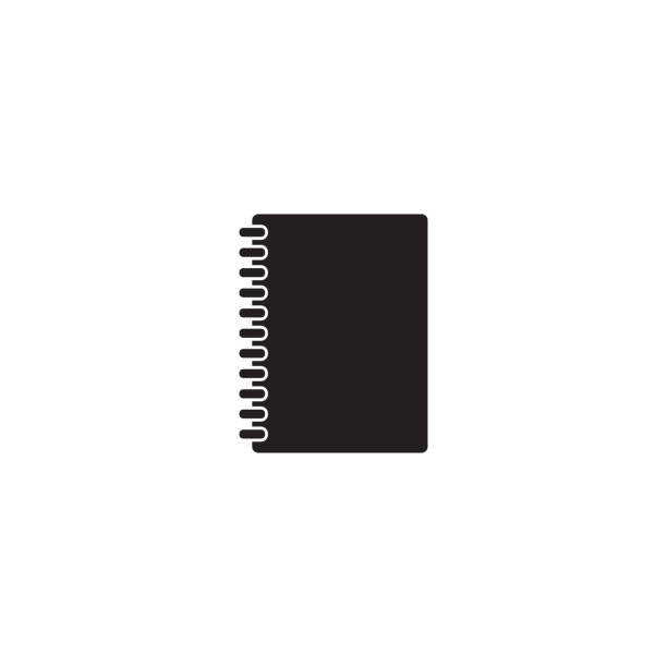 Closed notebook icon image. Vector Closed notebook icon image. Vector diary stock illustrations