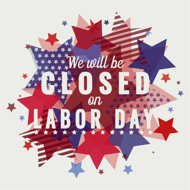 am labor day geschlossen - tag der arbeit stock-grafiken, -clipart, -cartoons und -symbole