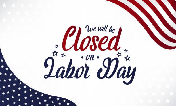 stockillustraties, clipart, cartoons en iconen met gesloten op dag van de arbeid - dicht