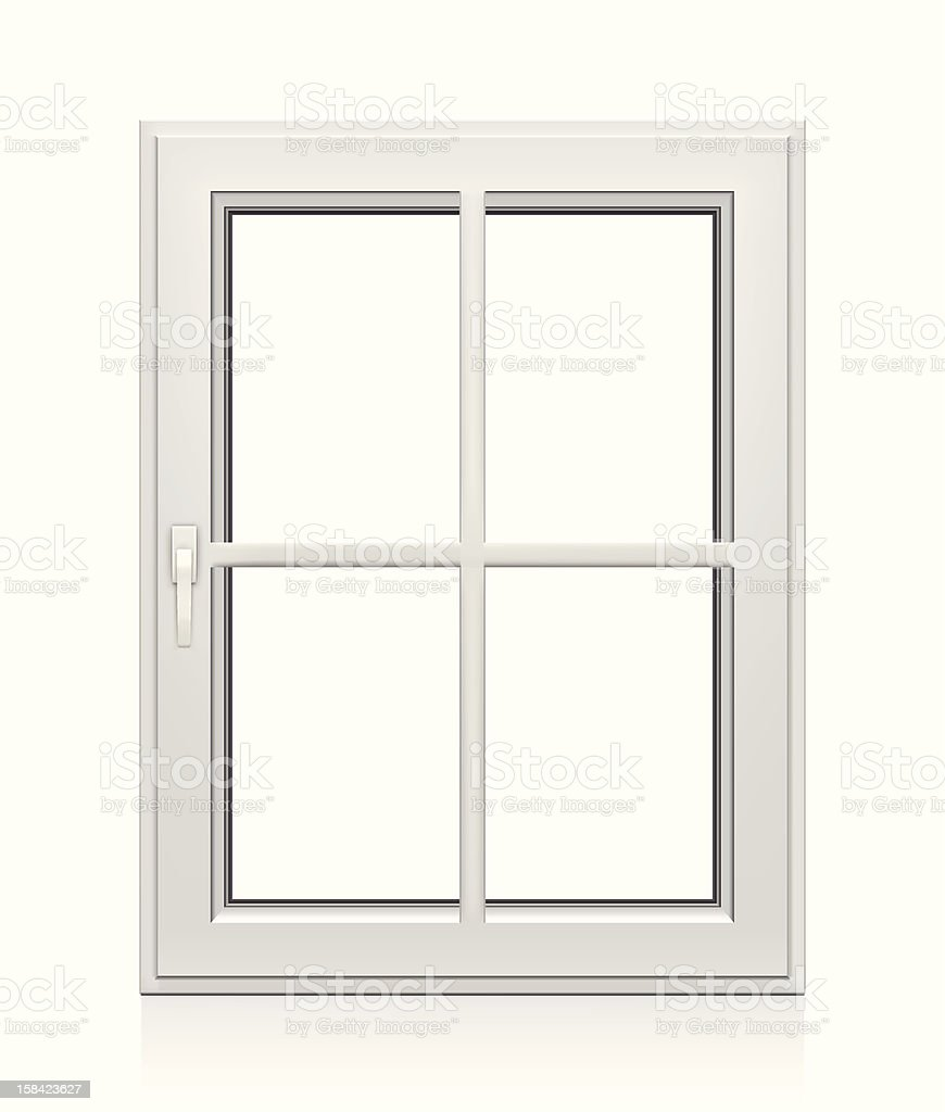 Closed Plastic Window vector art illustration