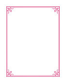 Closed Rectangle Border with Corner Accents