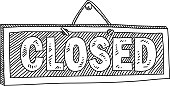 Line drawing of Closed Sign. it is single layered and grouped contains eps10 and high resolution jpeg.