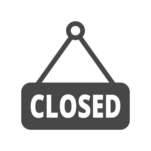 closed sign icon. trendy closed sign logo concept on white background from museum collection. suitable for use on web apps, mobile apps and print media. - прикрывать stock illustrations