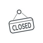 istock Closed Sign icon 1090707264