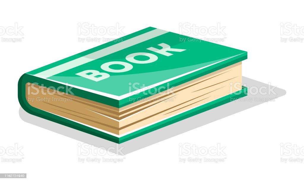 Livre Vert Epais Ferme Avec Le Livre De Lettrage Sur La
