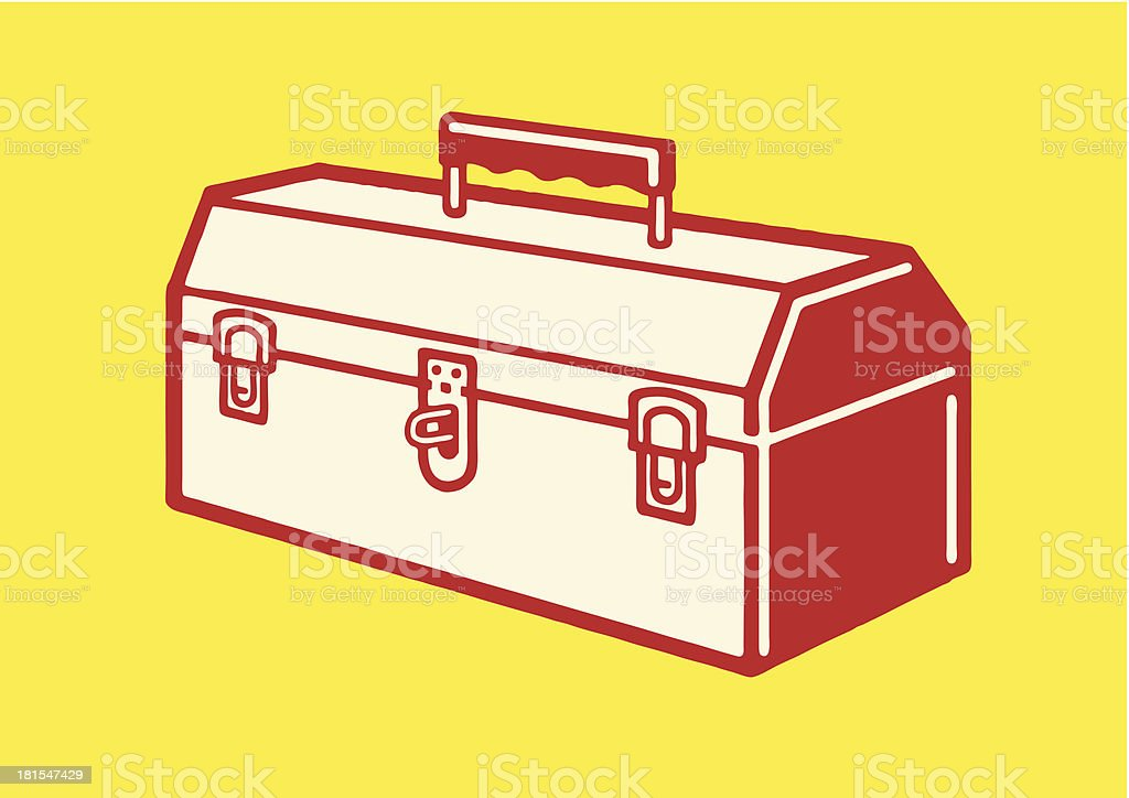 Closed Toolbox vector art illustration