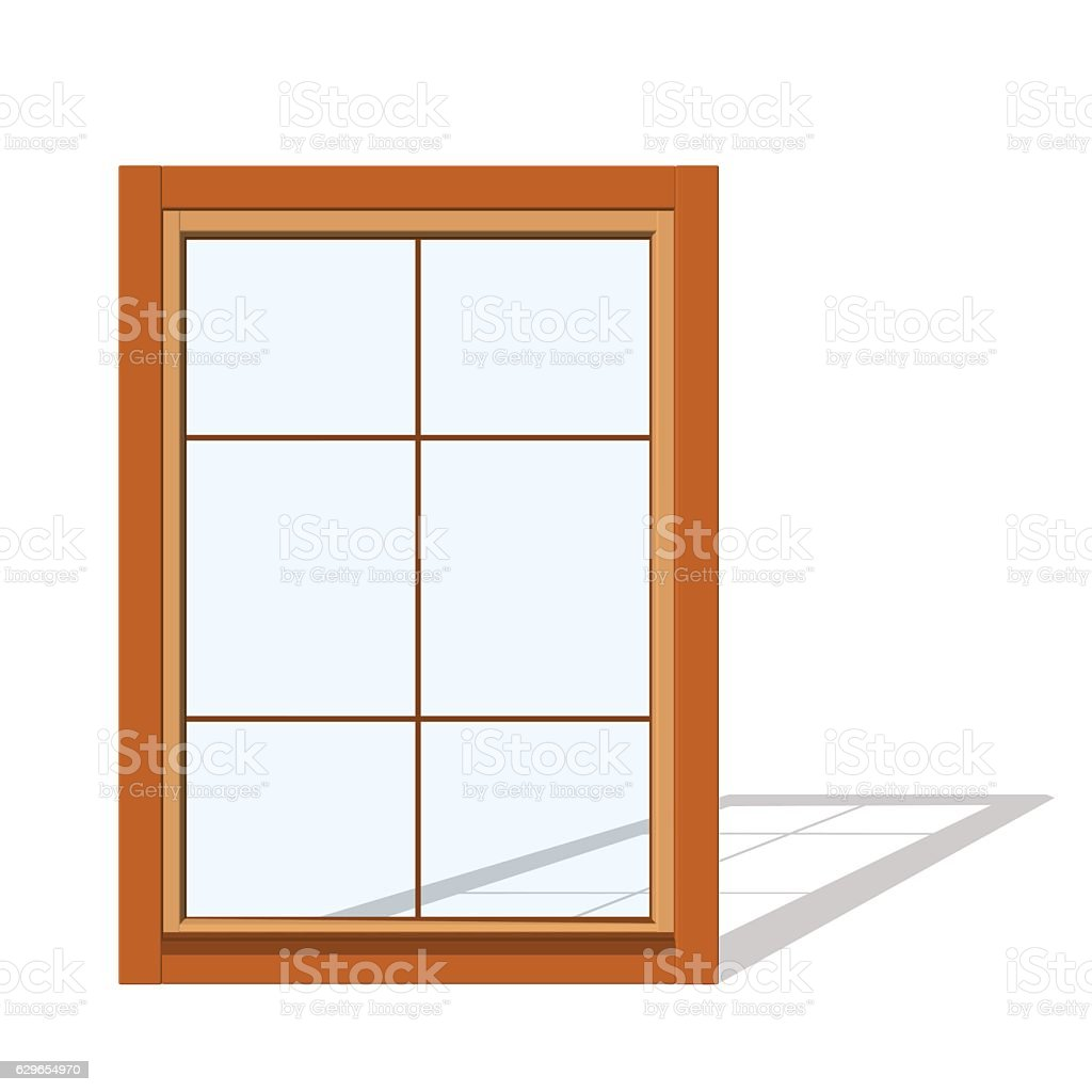 Closed window. Isolated on white background. vector art illustration