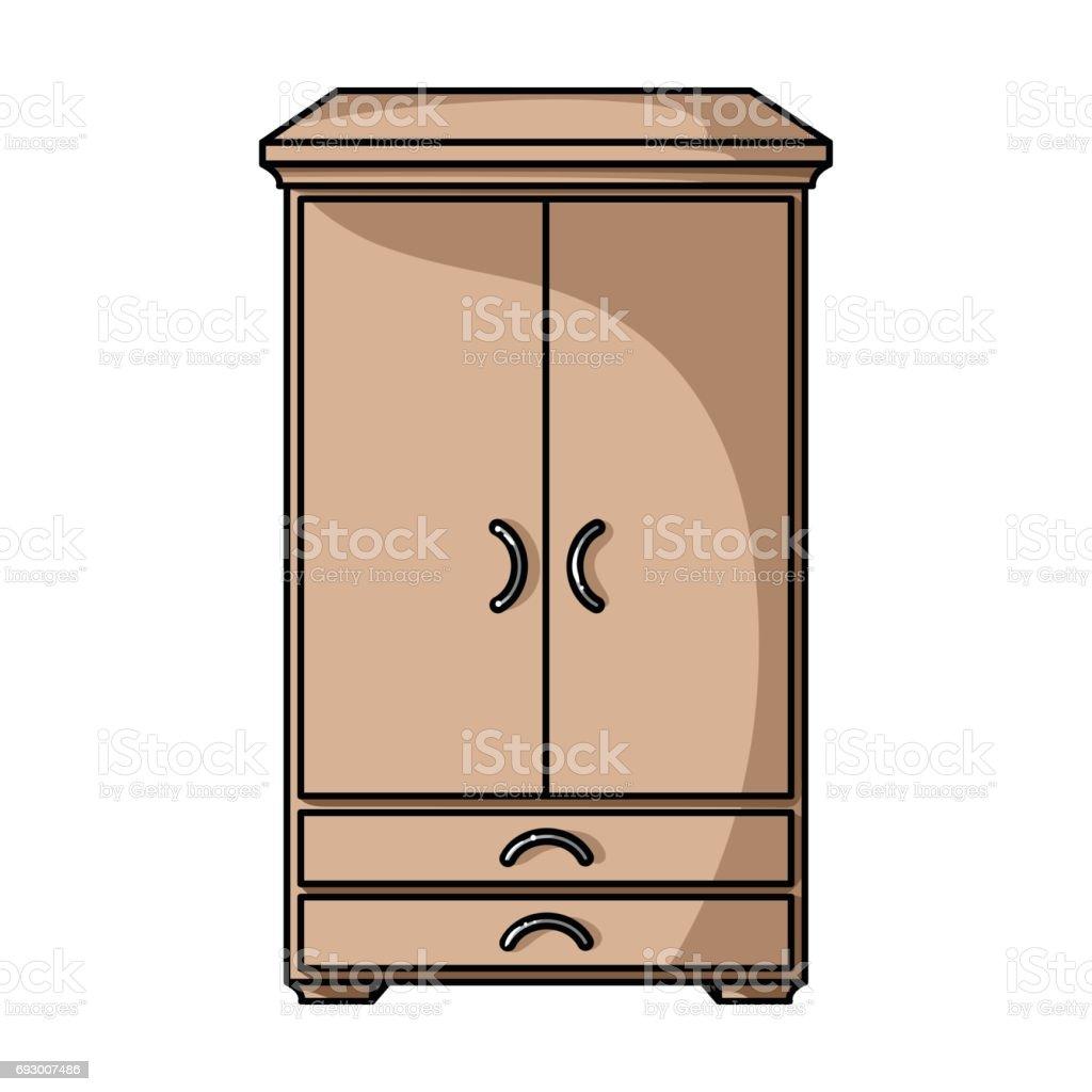 placard dic ne dans le style de dessin anim isol sur. Black Bedroom Furniture Sets. Home Design Ideas