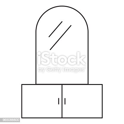 Closet Mirror Icon Stock Vector Art & More Images of Art 965088800