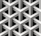 Close-up of a 3D seamless pattern in gray