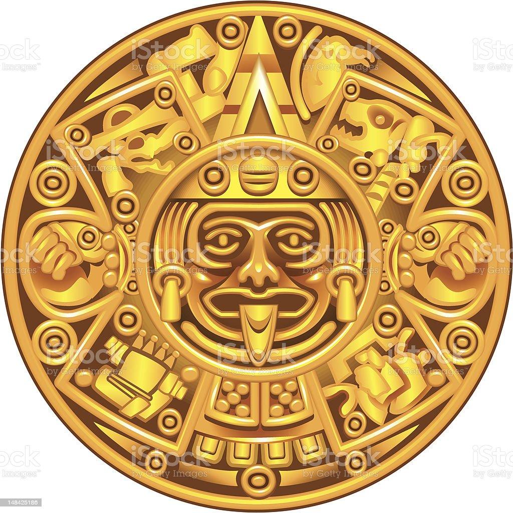Calendario maya - ilustración de arte vectorial