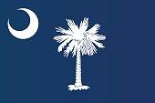 Close-up of flag of South Carolina