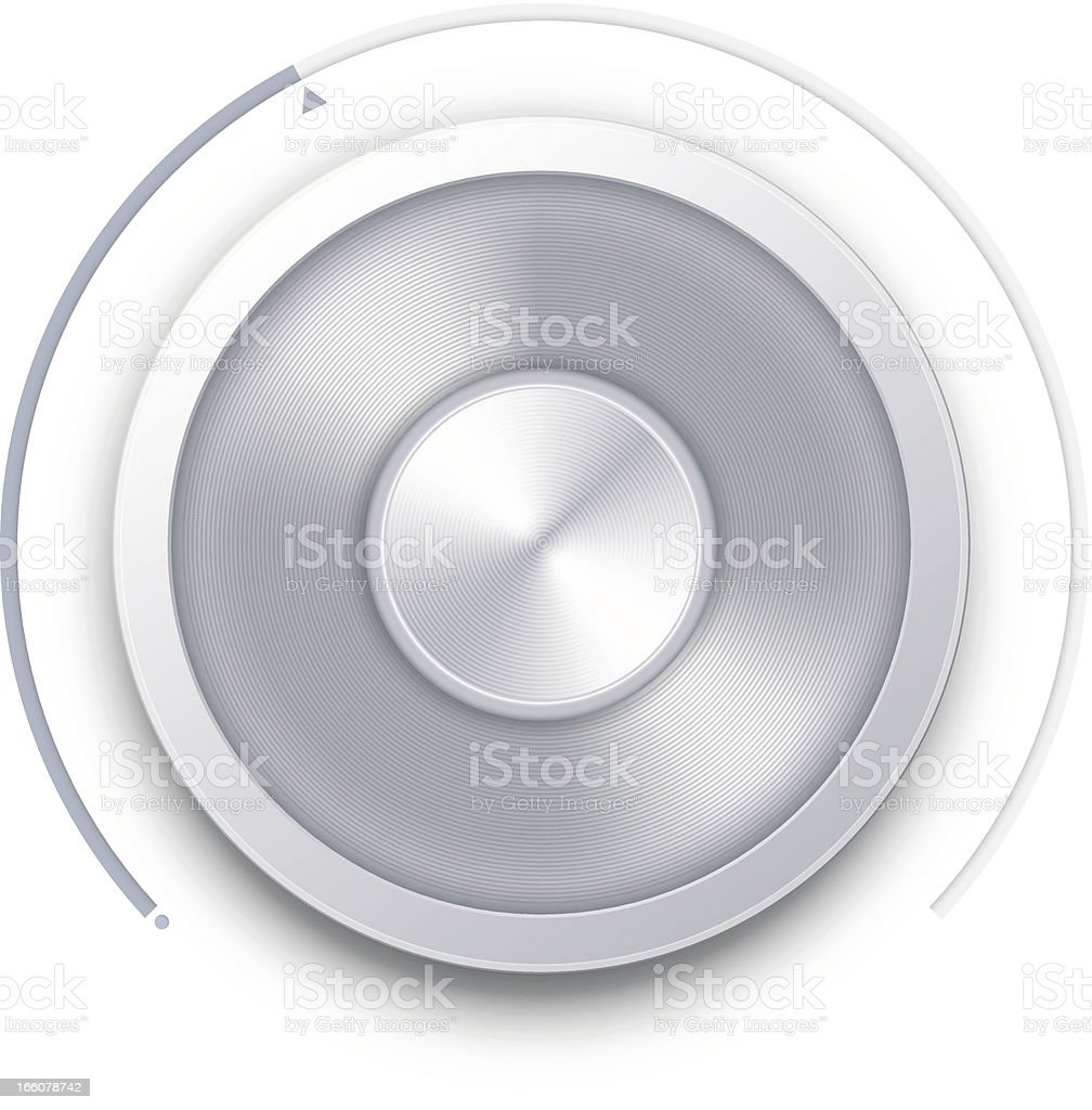 Close-up of silver knob switch royalty-free stock vector art