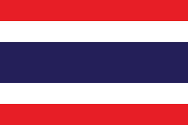 flaga tajlandii - tajlandia stock illustrations
