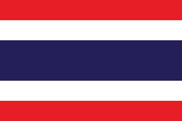 a close-up of the flag of thailand - thai flag stock illustrations, clip art, cartoons, & icons