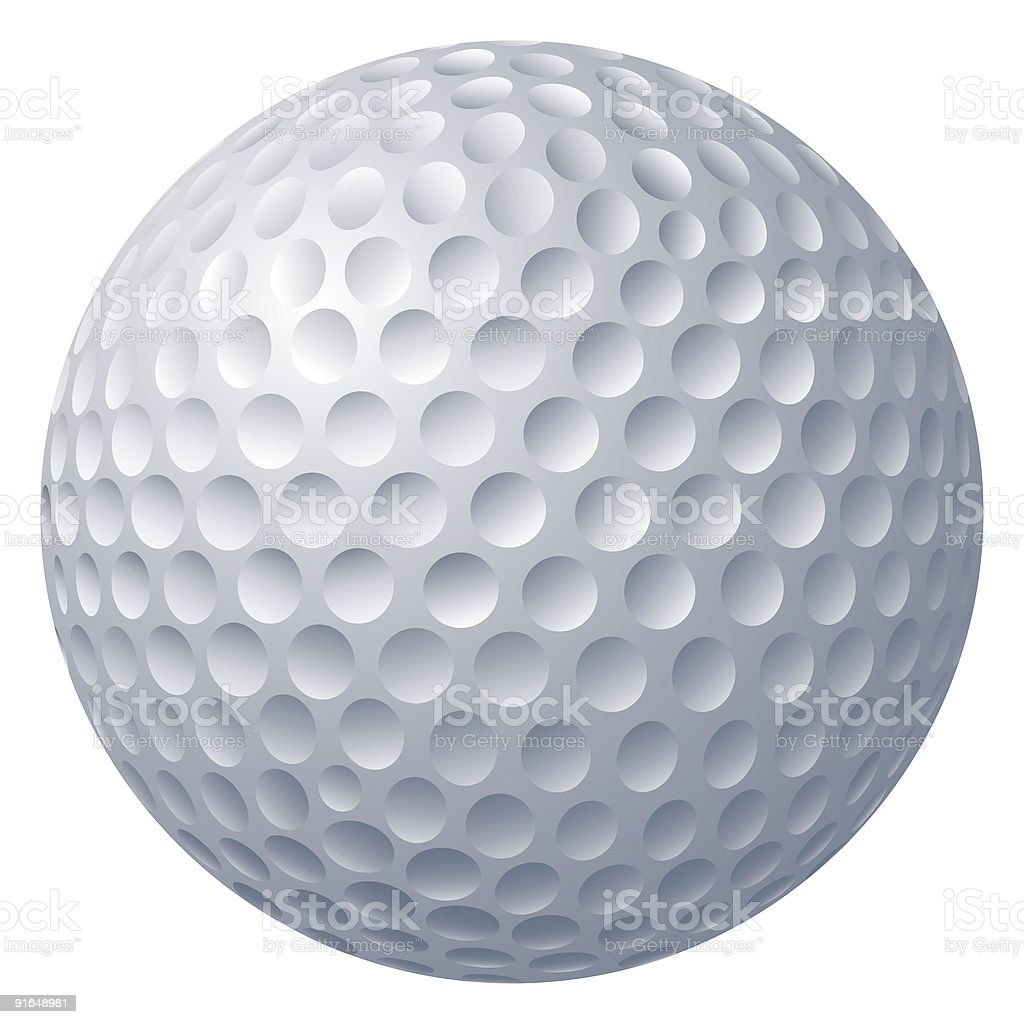 Bola de golfe - ilustração de arte em vetor