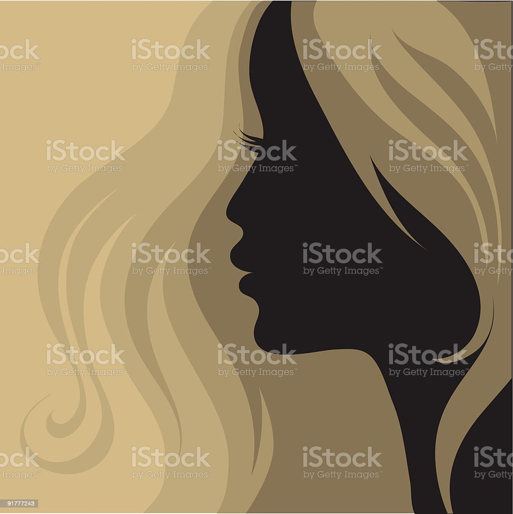 Женщины в профиль ретро фото 8