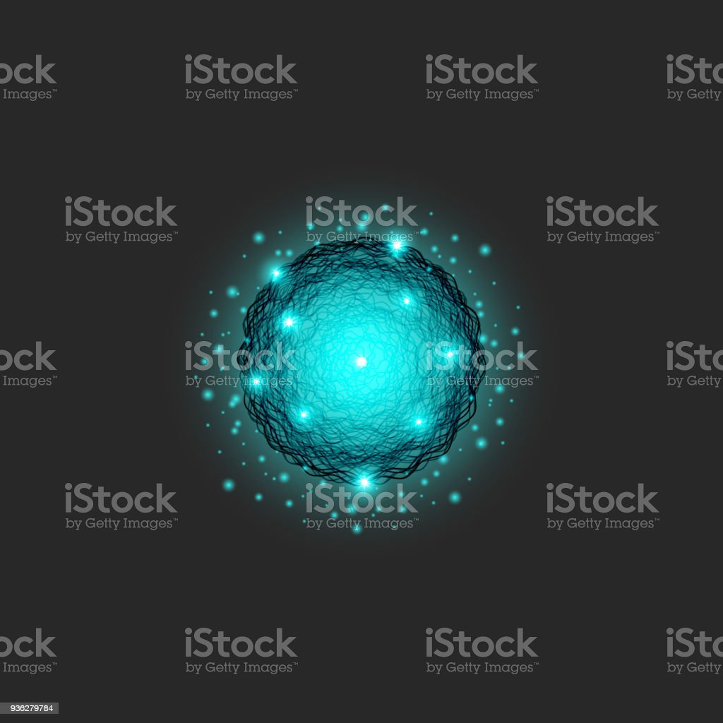 A clot of energy symbol is a substance of blue color, circle shapes dynamic particle series, science fractal round texture A clot of energy symbol is a substance of blue color, circle shapes dynamic particle series, science fractal round texture Abstract stock vector